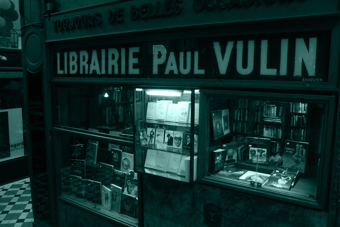 Paris arcade bookshop